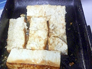 蜂蜜醤油豆腐ステーキ