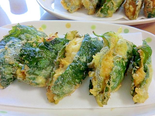 10. 鶏つくねのしそ巻き天ぷら