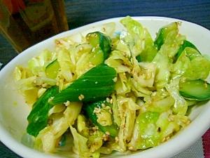 副菜に(/・ω・)/☆キャベツと胡瓜の胡麻風味
