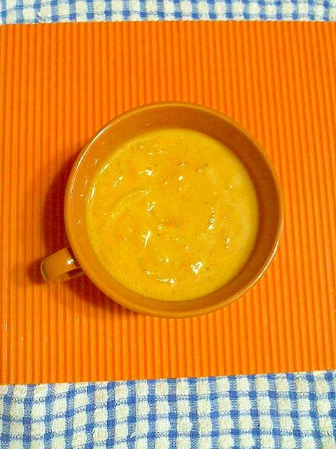 カボチャの豆乳スープ♪
