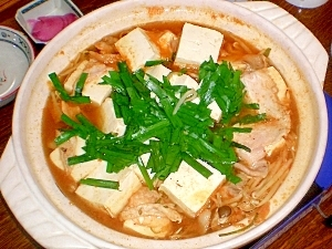コチジャンで作るキムチ鍋 レシ...