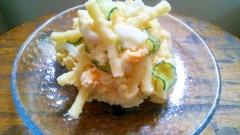 ポテトサラダの3種の神器はマカロニきゅうり茹で卵