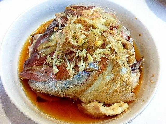 魚の王様☆鯛のあら蒸し