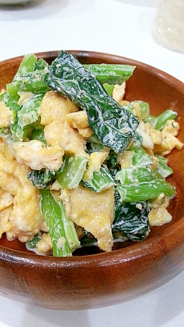 簡単!小松菜と卵のお浸し