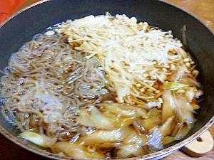 お肉なし(´・ω・`)すき焼き風
