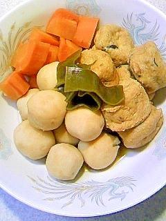 冷凍里芋でガンモとニンジン煮