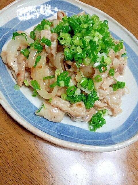 豚バラのバターポン焼き