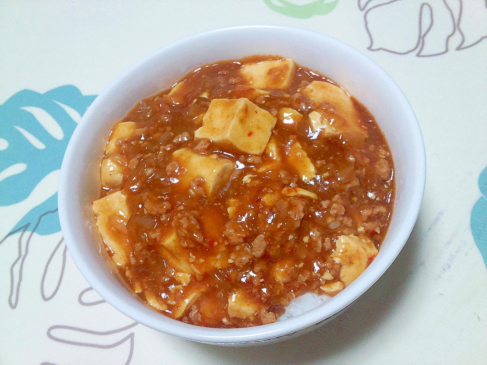 玉ねぎ麻婆丼++