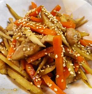 鶏ごぼう人参の炒めなます レシピ・作り方