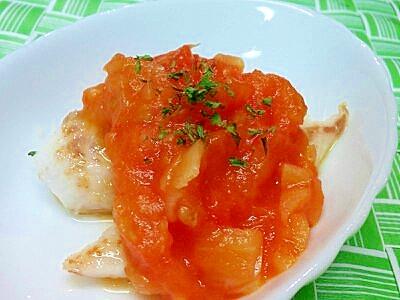 【離乳食】すずきのムニエルトマトソースがけ