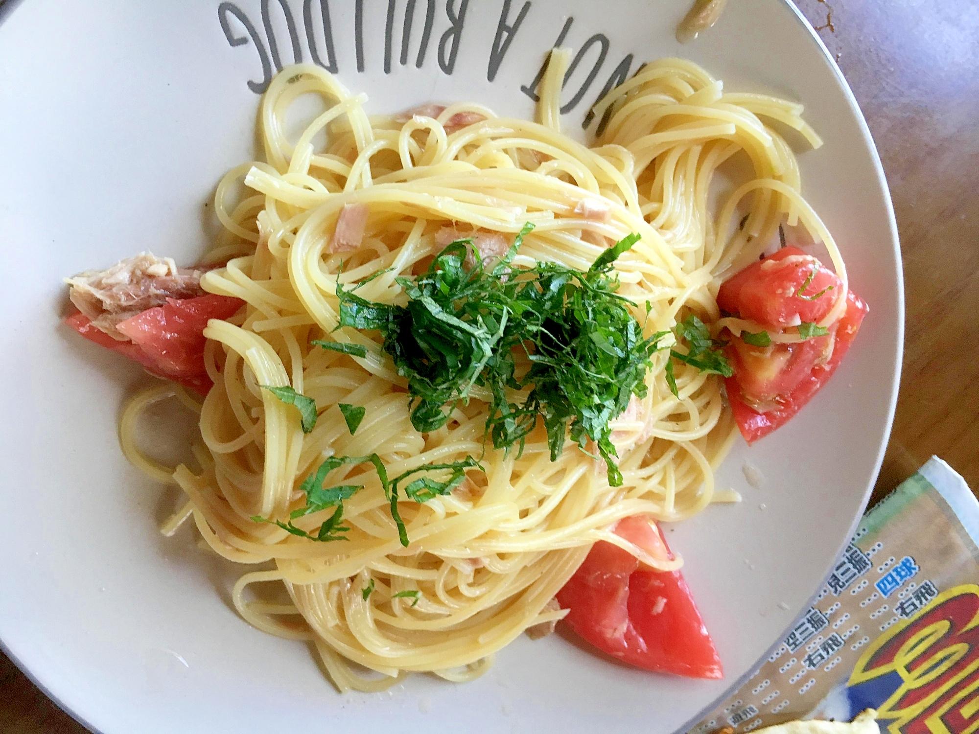 3. シンプル!トマトとツナの冷製パスタ