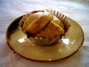 黒糖レーズン米粉蒸しパン