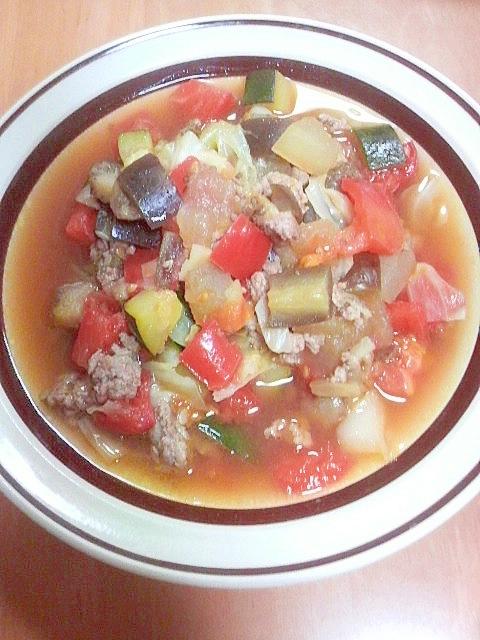 夏野菜のコンソメ煮