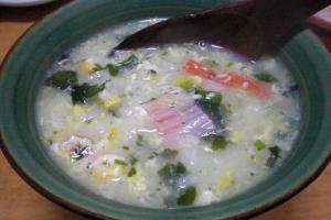 シジミスープの素を使って簡単「シジミ雑炊」