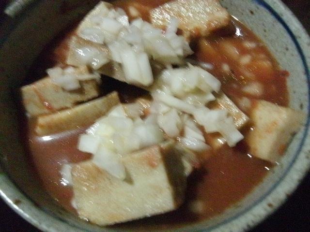 高野豆腐の玉ねぎソース和え