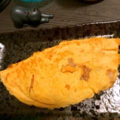えのきバターの蕎麦粉あんオムレツ