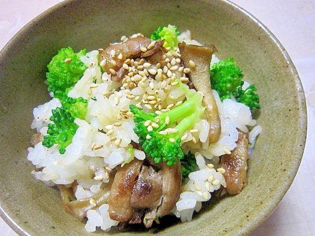 豚と舞茸の混ぜご飯