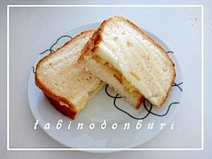 ガルバンゾーと卵のサンドウィッチ