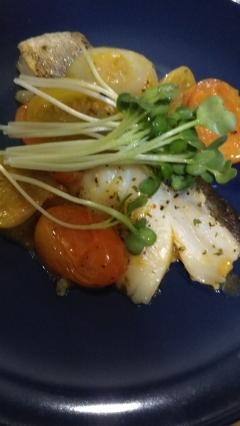 たらのバジルソース焼(о´∀`о)