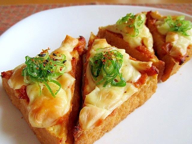 トースターで簡単!厚揚げの味噌チーズ焼き レシピ・作り方 by ちえ\u0027sキッチン|楽天レシピ