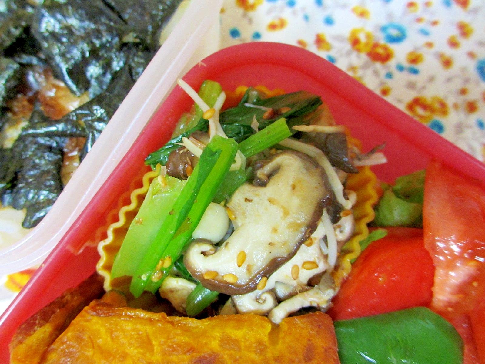 小松菜といろいろキノコのゴマポン酢和え