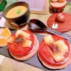 炙りラクレットとトマトのマフィン
