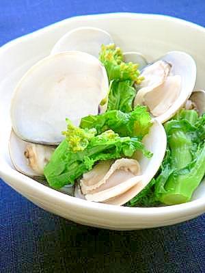 蛤と菜の花のひな祭り煮びたし
