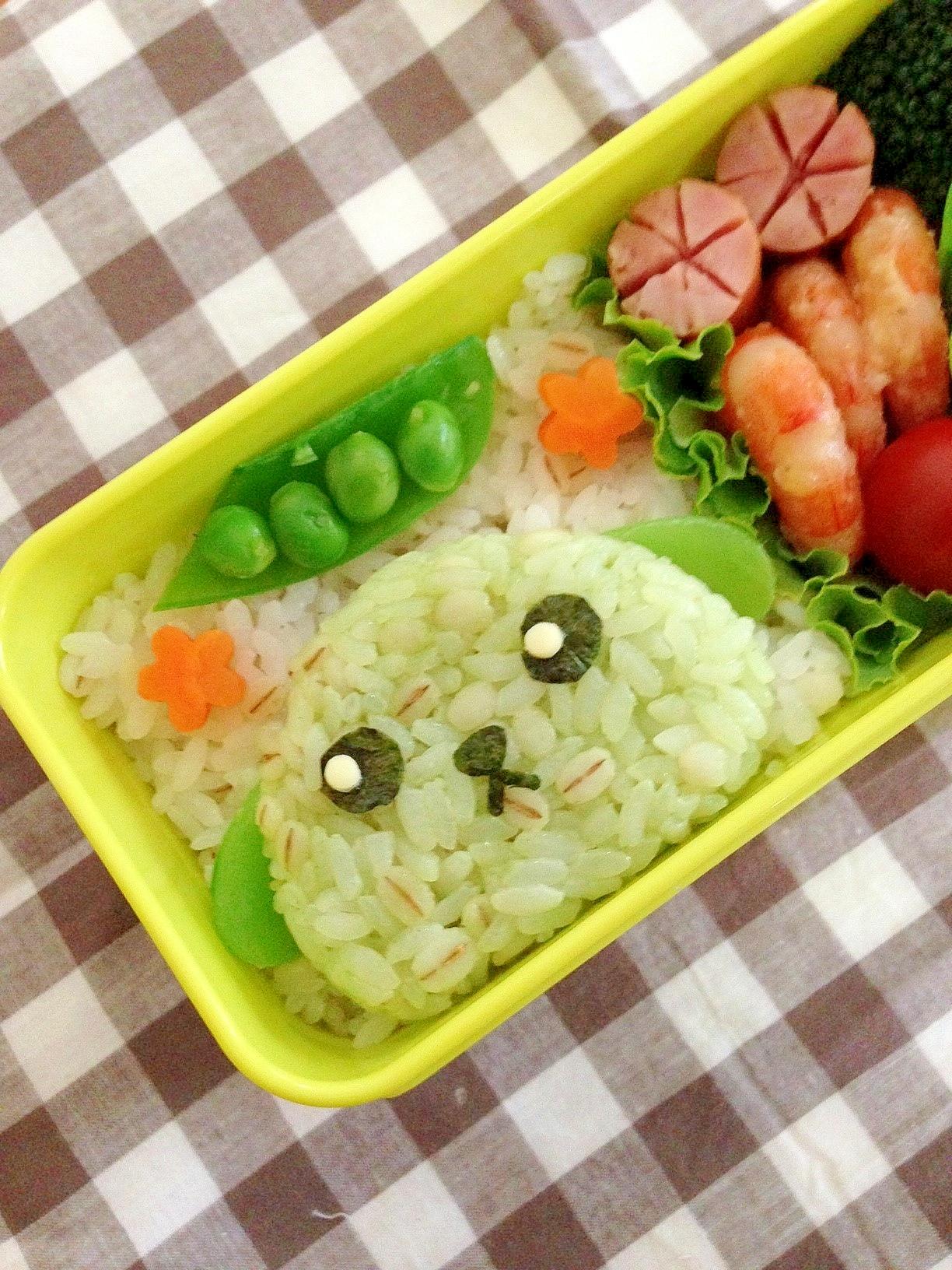 簡単キャラ弁☆豆しばのお弁当♪