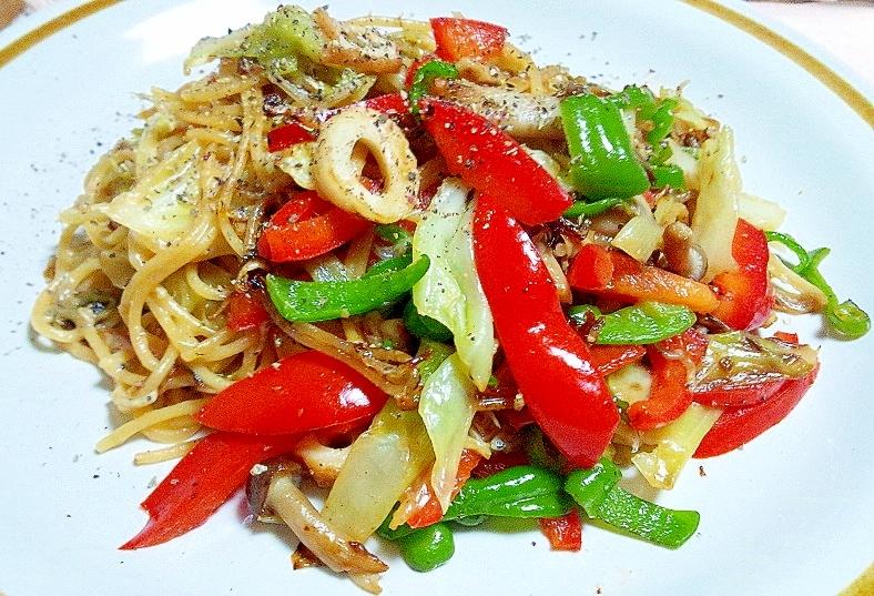 焼きそば風☆醤油麹スパゲティ
