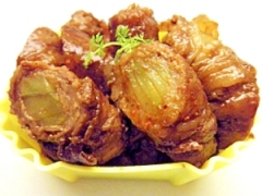 ブロッコリーの芯の肉巻き焼き✿お弁当おかず✿