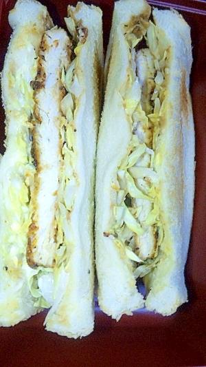 簡単!チキンカツサンドイッチ