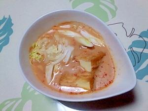 レンジで簡単!ピリ辛豆乳みそ鍋++