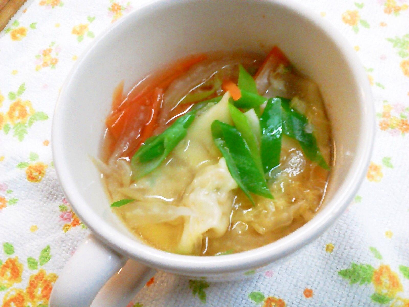 5. はんぺんワンタン入りのスープ