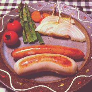 *ソーセージと野菜のグリル