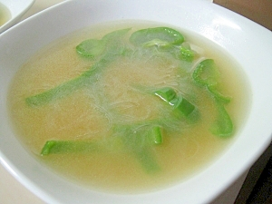 ピーマン春雨中華スープ