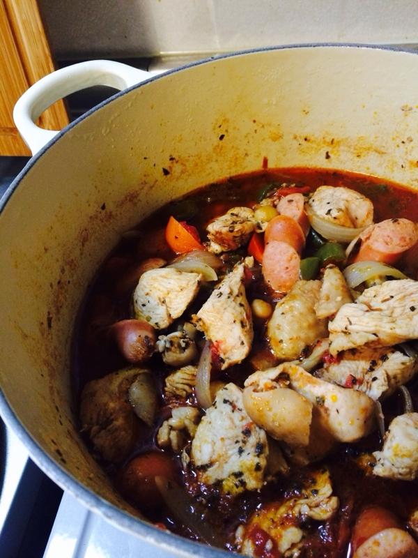 やわらか鶏むね肉のバジルトマト煮