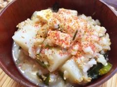 リメイク!すき焼き風味の味噌汁雑炊