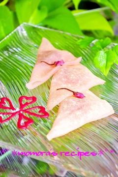 簡単モチモチ♬桜の生八つ橋♡お花見のデザートにも