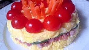 ♪べーコンポてサラ♪バースデーケーキ風