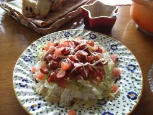 ハワイアンポチキのタコライス