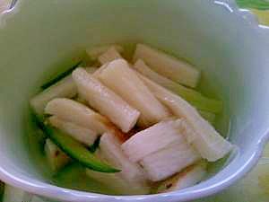 シャキシャキ長芋とキュウリの甘酢漬