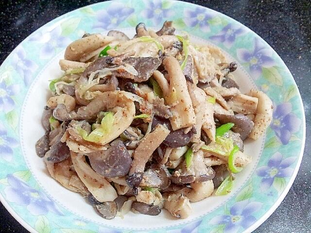 簡単♪ヌタリポソッ・ポックム(平茸の炒め物)