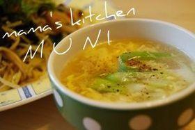 簡単♪ホタテ缶で作る中華フワフワ・トロの卵スープ♪