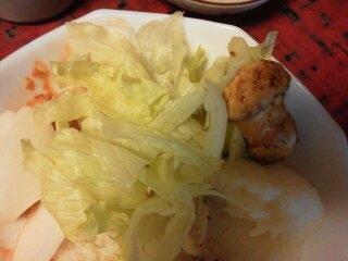レタスと焼き松茸のサラダ
