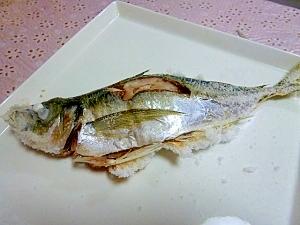 ルクエでアジの塩焼き