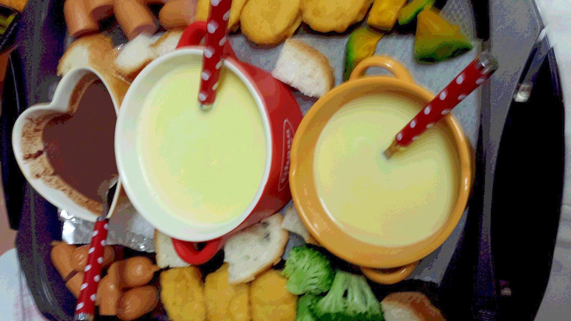 簡単チーズフォンジュ(ホットプレート)