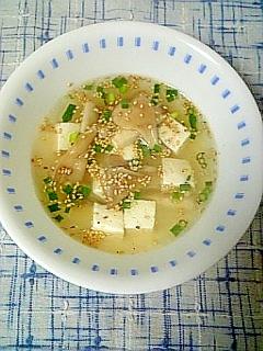 ☆舞茸豆腐中華スープ☆