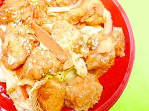 鶏のピリ辛唐揚げ丼