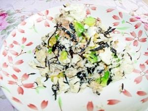 カルシウムと鉄分豊富☆おからとひじきのチーズサラダ