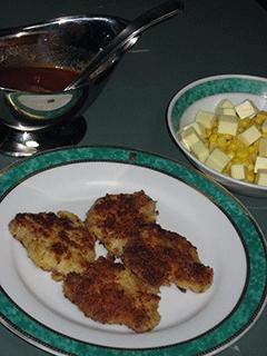 豚ヒレ肉のチーズカツレツ